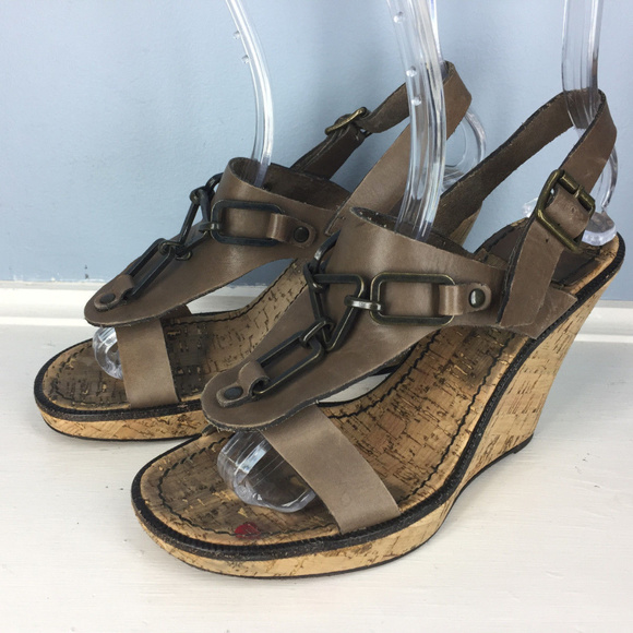 Wedge 5 By Leather Chloe Sandal See Brown 38 Cork e2YDHE9bWI
